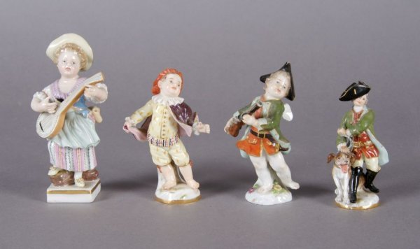 371: A Collection of Four Meissen Porcelain Figures, He