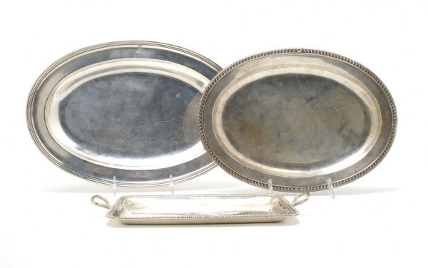 513: A Group of Three English and Irish Silver Trays, W