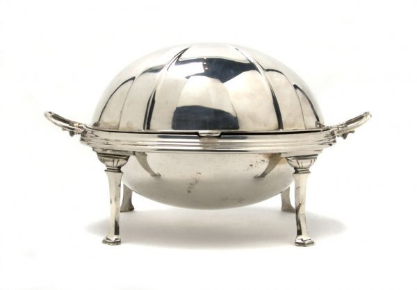 524: An English Silverplate Covered Serving Dish, Frank