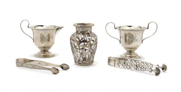526: An American Sterling Silver Creamer and Sugar, Cla