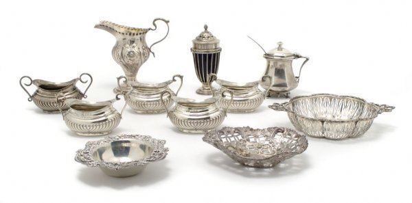 528: A Collection of English Silver Articles, Width ove