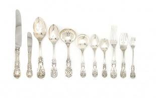 583: An American Sterling Silver Flatware Service, Reed