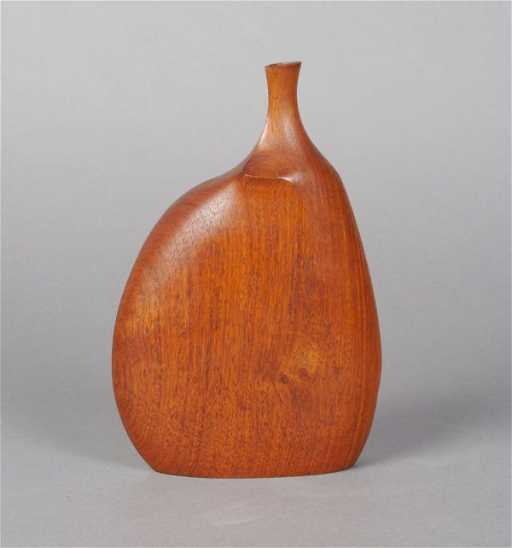 878 A Doug Ayers Carved And Shaped Rosewood Vase Heig
