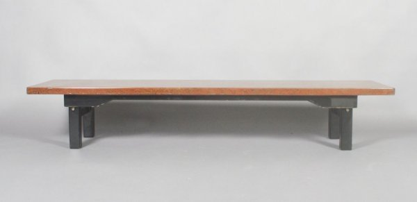 982: A Japanese Lacquered Low Table, Height 12 1/2 x wi