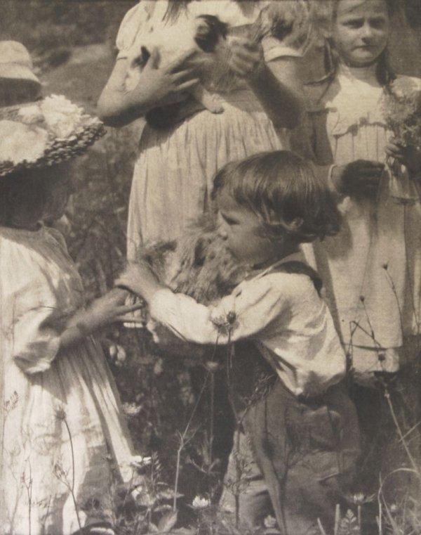 Gertrude Kasebier, (American, 1852-1934), Happy Days, 1