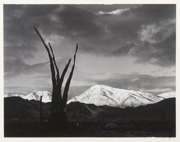 Ansel Adams, (American, 1902-1984), Sunrise, Mount Tom,