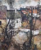 Michel de Gallard, (French, b. 1921), Paysage