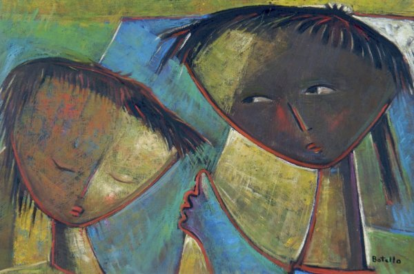 Angel Botello, (Puerto Rican, 1913-1986), Untitled, Two