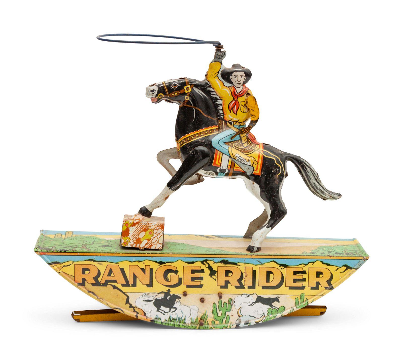 Marx Tin Lithograph Range Rider Toy height 9 1/2 x