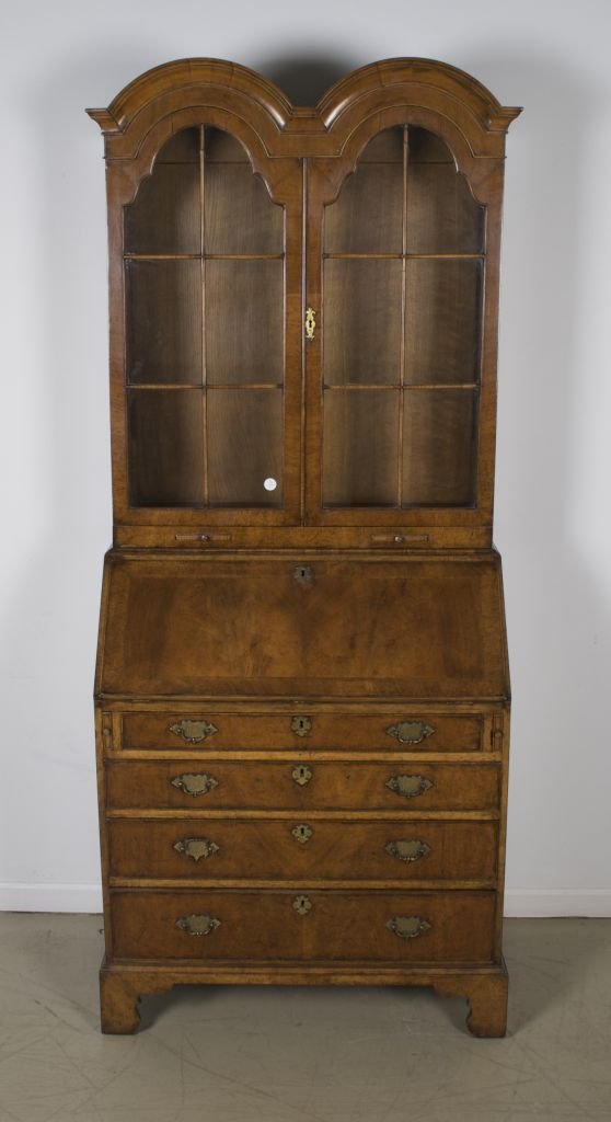 1: A Queen Anne Style Double-Domed Secretary Bookcase,