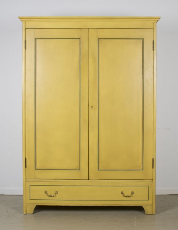 10: An American Painted Armoire, Height 71 1/4 x width