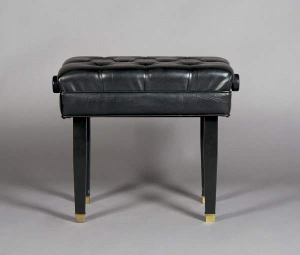 12: An Adjustable Piano Bench, Height 20 1/2 inches.