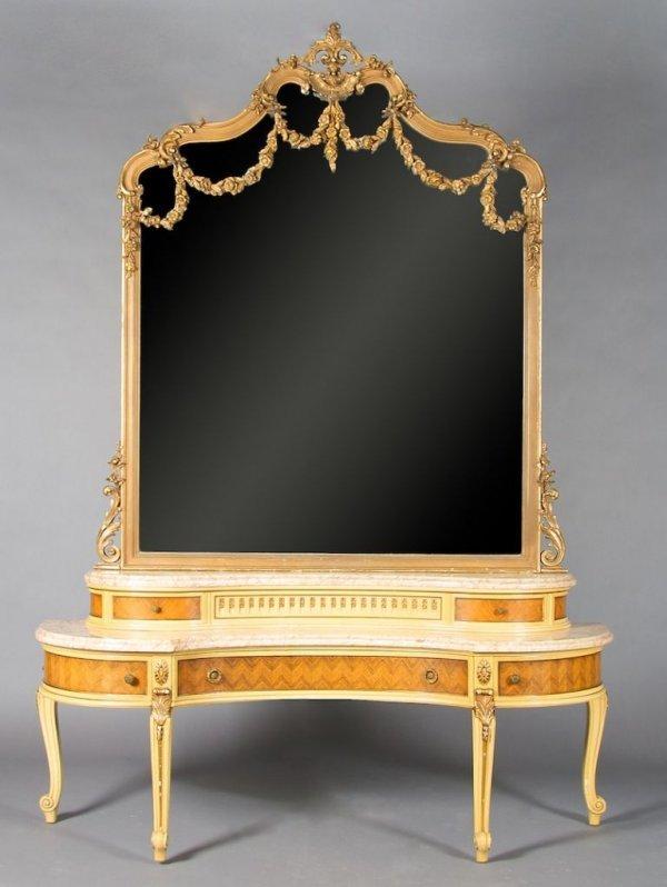 15: An American Louis XV Style Vanity, Height 86 x widt