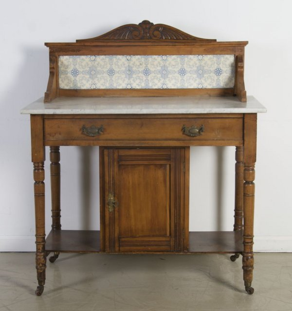 17: A Provincial Style Vanity, Height 42 x width 36 x d