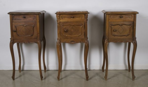 22: A Set of Three Similar Louis XV Style Walnut Side T