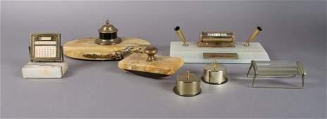 341 An Assembled Desk Set Width of first 9 12 inches