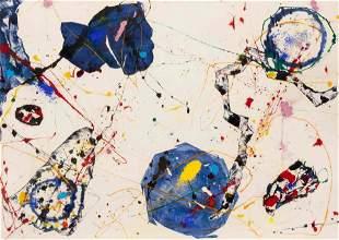Sam Francis (American, 1924-1994) Return of Blue Balls,