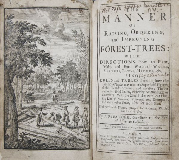 5: (BOTANY) COOK, MOSES. The Manner of Raising, Orderin