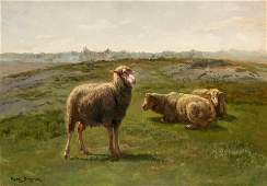 Rosa Bonheur (French, 1822-1899) Sheep in a Meadow