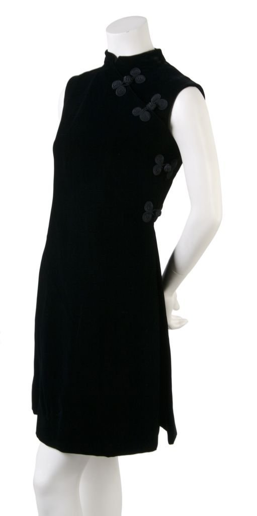 A Harvey Berin Black Velvet Dress,