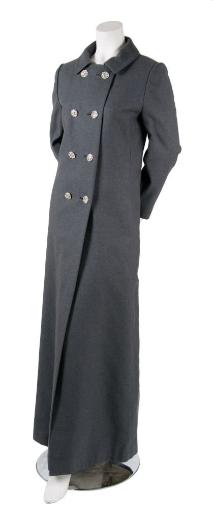 A Grey Wool Evening Coat,