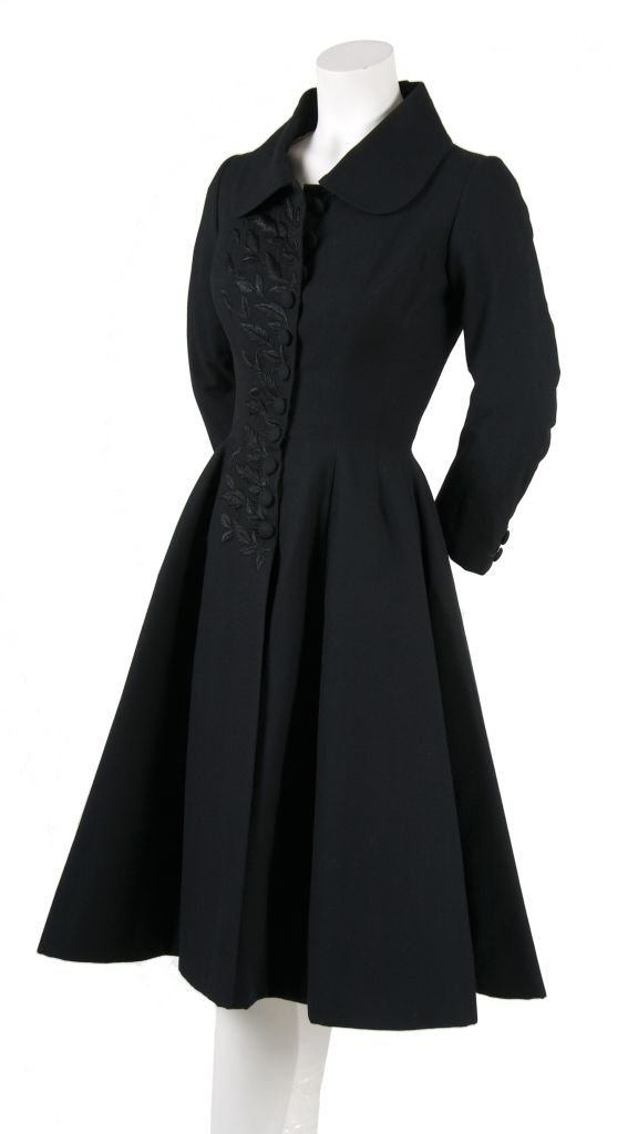A Falkenstein Black Wool Coat,