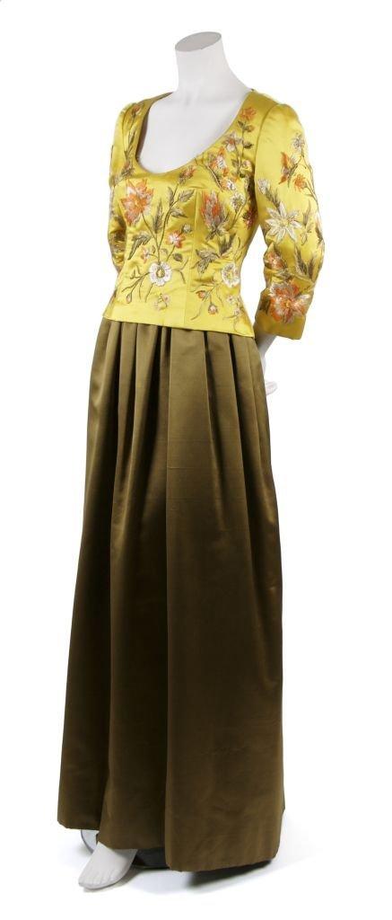 A Michael Novarese Silk Gown,