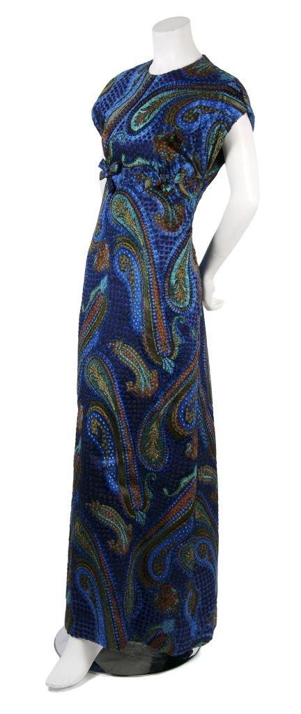 A Michael Novarese Printed Silk Dress,