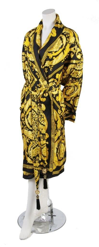 A Gianni Versace 'Medusa' Silk Twill Robe,