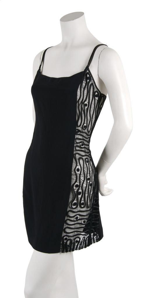 A Todd Oldham Black Mini Dress, Size M.
