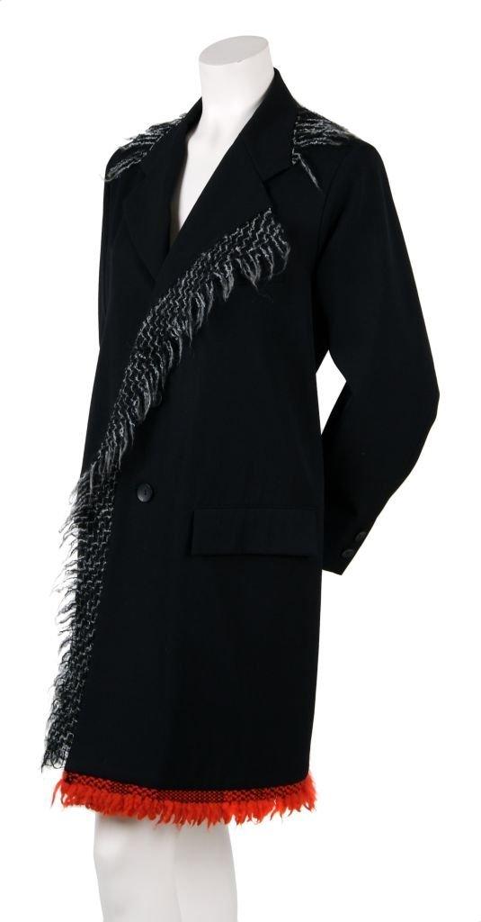 A Yohji Yamamoto Black Wool Coat, Size S.