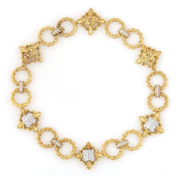 An 18 Karat Yellow Gold and Diamond Necklace, Wander, F