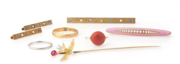A Group of Vintage Jewelry, 19.70 dwts.