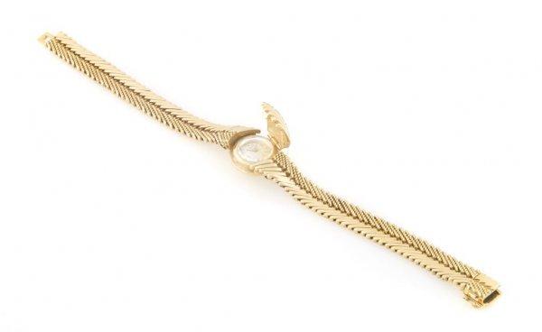 An 18 Karat Yellow Gold Bracelet Watch, LeCoultre for M