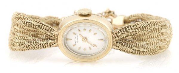 A 14 Karat Yellow Gold Wristwatch, Lucien Piccard,