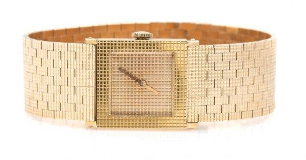 An 18 Karat Yellow Gold Wristwatch, Boucheron, Length 6