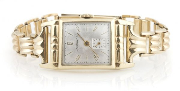 A Yellow Gold Filled Wristwatch, Longines.