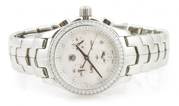 A Stainless Steel and Diamond Wristwatch, Tag Heuer Lin