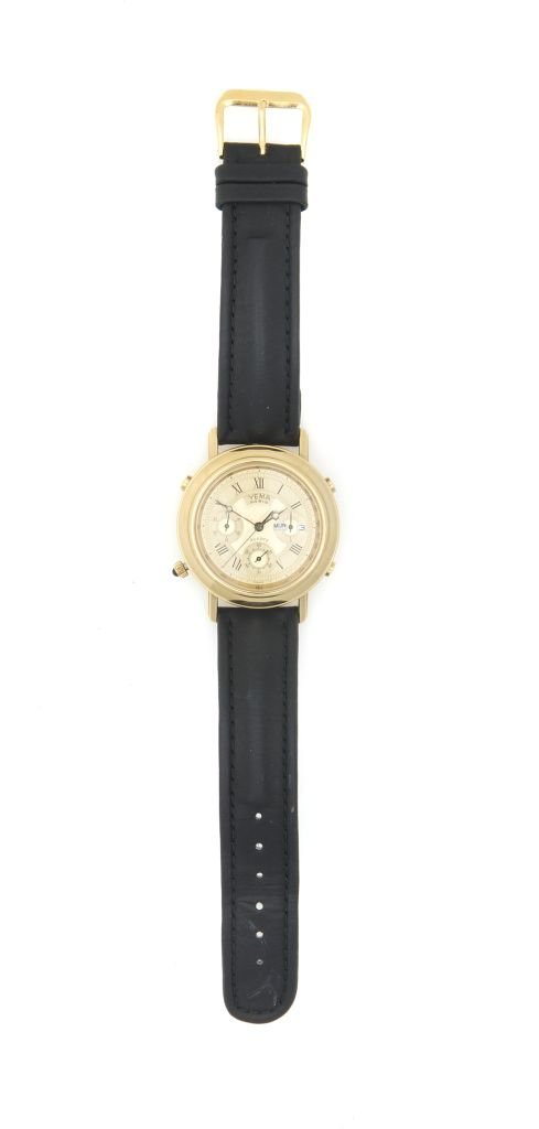 A Stainless Steel and Gold Plated Wristwatch, YEMA Pari
