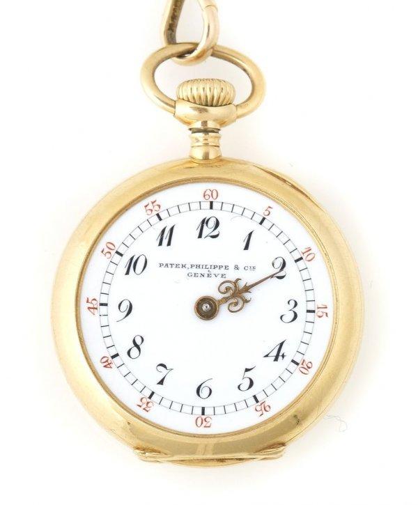 An 18 Karat Yellow Gold Pocket Watch, Patek Philippe &
