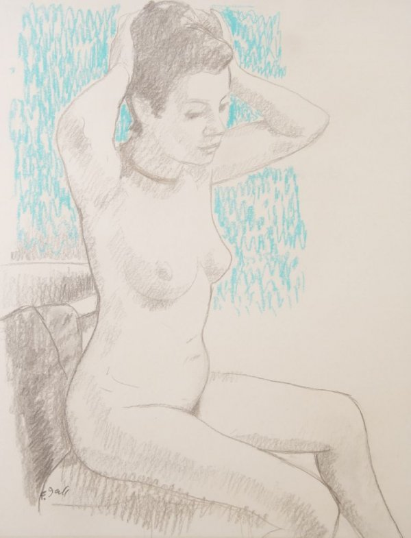 Francois Gall, (French, 1912-1987), Nude