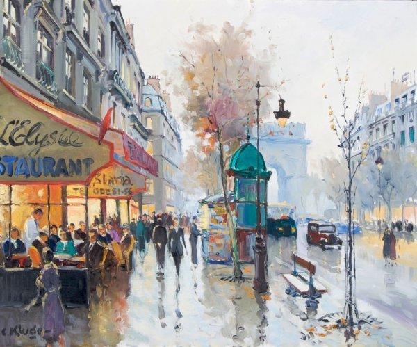 Constantine Kluge, (French, 1912-2003), Les Champs Elys
