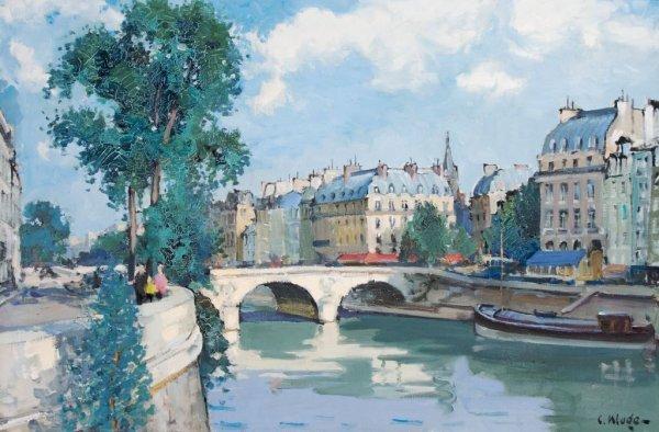 Constantine Kluge, (French, 1912-2003), Le Pont Saint M