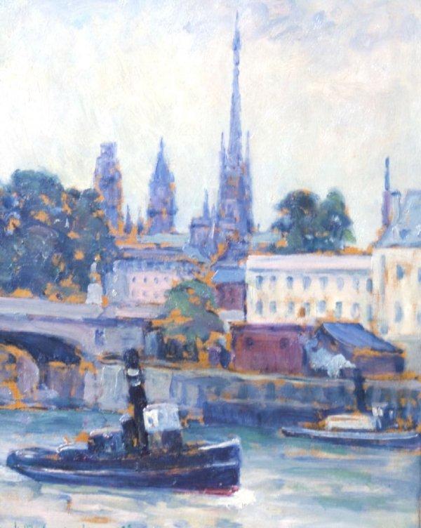 Frank M. Armington, (Canadian, 1876-1941), La Seine a R
