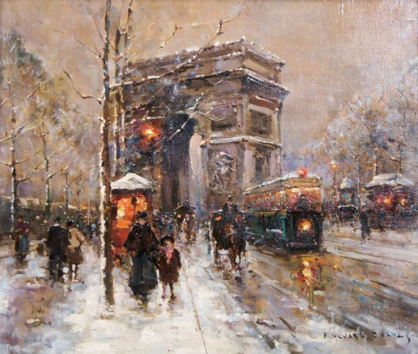 Edouard Leon Cortes, (French, 1882-1969), Arc de Triomp