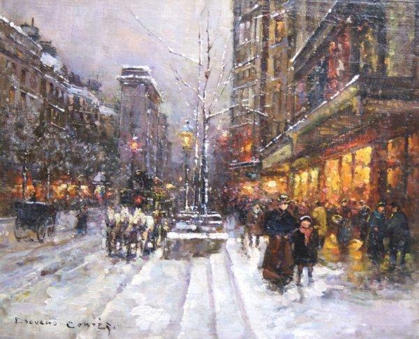 Edouard Leon Cortes, (French, 1882-1969), Porte St. Den