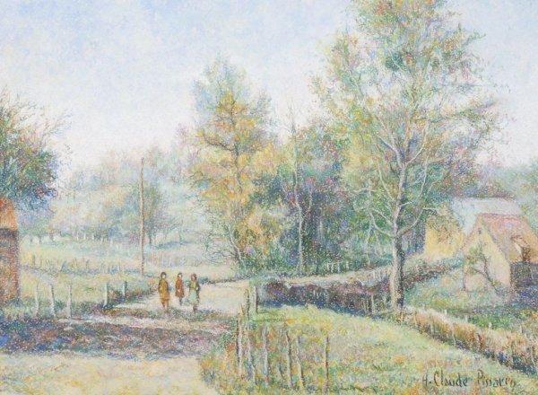 Hughes Claude Pissarro, (French, b. 1935), Les trois fi