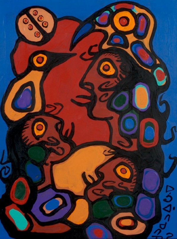 Norval Morrisseau, (Canadian, 1932-2007), Untitled