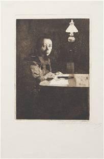 Kathe Kollwitz, (German, 1867-1945), Selbstbildnis am T
