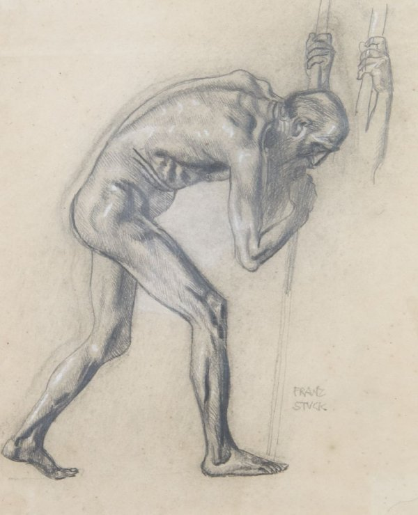 Franz Von Stuck, (German, 1863-1928), Figure Study, 189